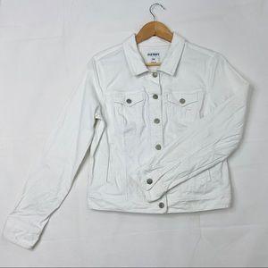 Old Navy White Denim Jeans Jacket L
